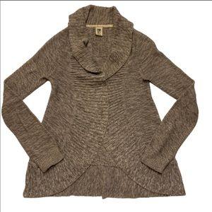 Roxy marled cardigan, brown/tan, size XS
